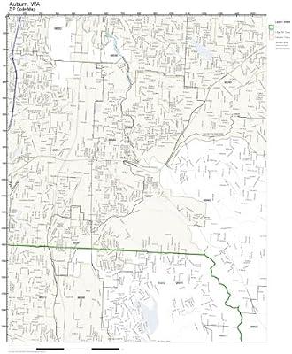 Amazon Com Zip Code Wall Map Of Auburn Wa Zip Code Map Not