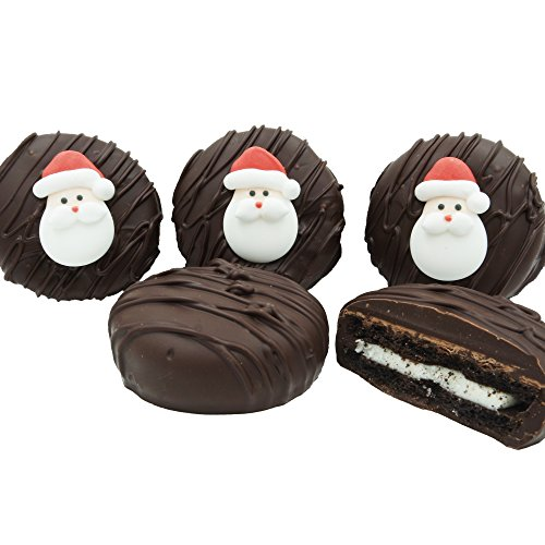 Philadelphia Candies Dark Chocolate Covered OREO Cookies, Decorated Christmas Santa Claus 8 Ounce