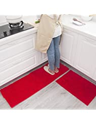 Amazoncom Red Kitchen Rugs Kitchen Table Linens Home Kitchen