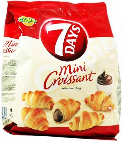 7 Days Mini Croissants with Coca Cream Filling From Greece - 72g (2.5 Ounches)