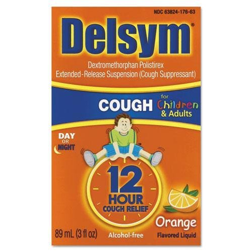 RECKITT BENCKISER PROFESSIONAL 27663 Children`s Cough Suppressant, Orange, 3oz Bottle by RECKITT BENCKISER PROFESSIONAL (Image #1)