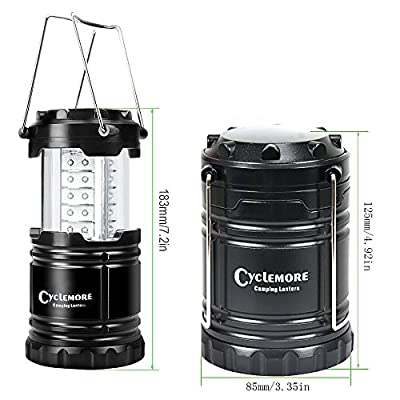 Portable LED Camping Lantern,Outdoor Flashlights.Water Resistant Ultra Bright 30 LED Lantern for Hiking,Emergencies,Hurricanes,Outages,Storms,Camping,Fishing.(Batteries Not Included)
