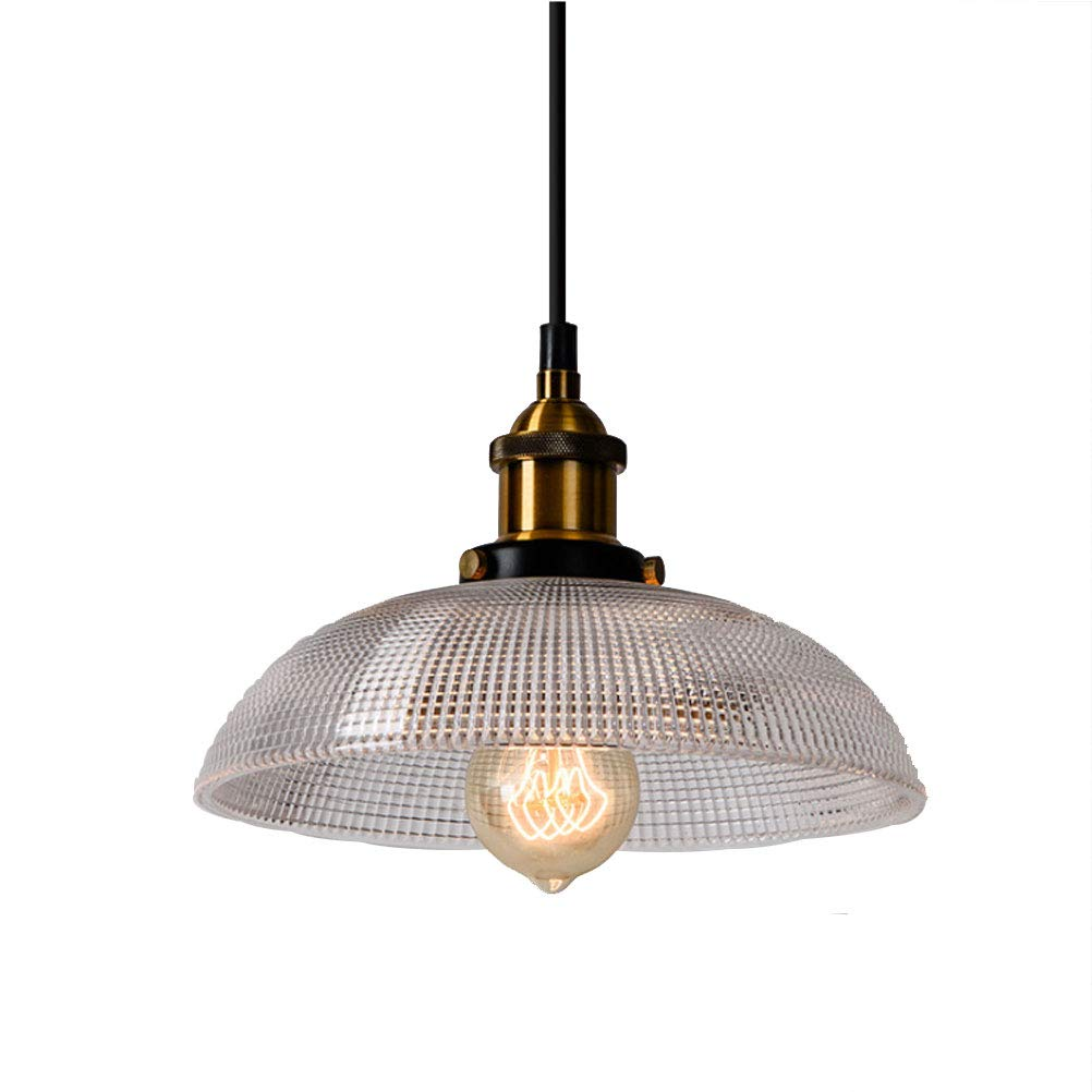 BIN Ceiling Chandelier, Wrought Iron Glass Chandelier with Light Source,B