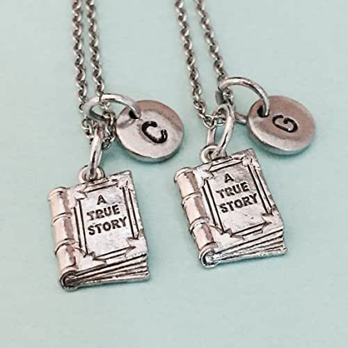 Reading Earrings: Amazon.com: Best Friend Necklace, Book Charm Necklace