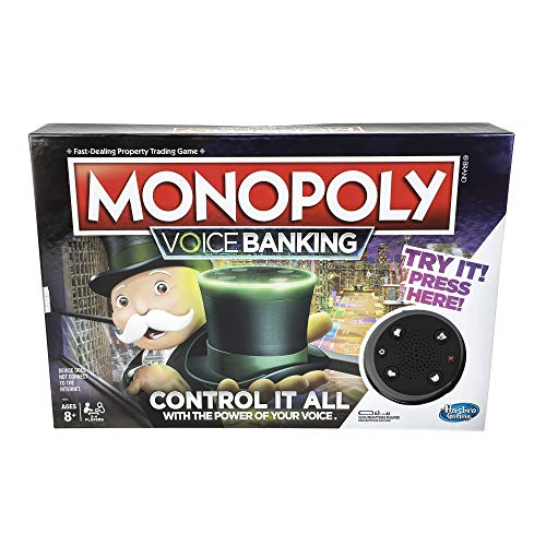 Electronic Monopoly Game - Monopoly Voice Banking Electronic Family Board Game for Ages 8 & Up