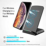 Seneo Wireless Charger, Qi Certified Wireless Charging Stand Compatible with iPhone Xs MAX/XR/XS/X/8/8 Plus, 10W for Galaxy Note 9/S9/S9 Plus/Note 8/S8, 5W All Qi-Enabled Phones(No AC Adapter)