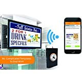 Wi-Fi Digital Signage Player. Control Content via iPhone or Web. Play PowerPoint, YouTube or Websites. Display Google Calendars, Facebook Albums, News, Weather, Stocks. No Monthly Fees!
