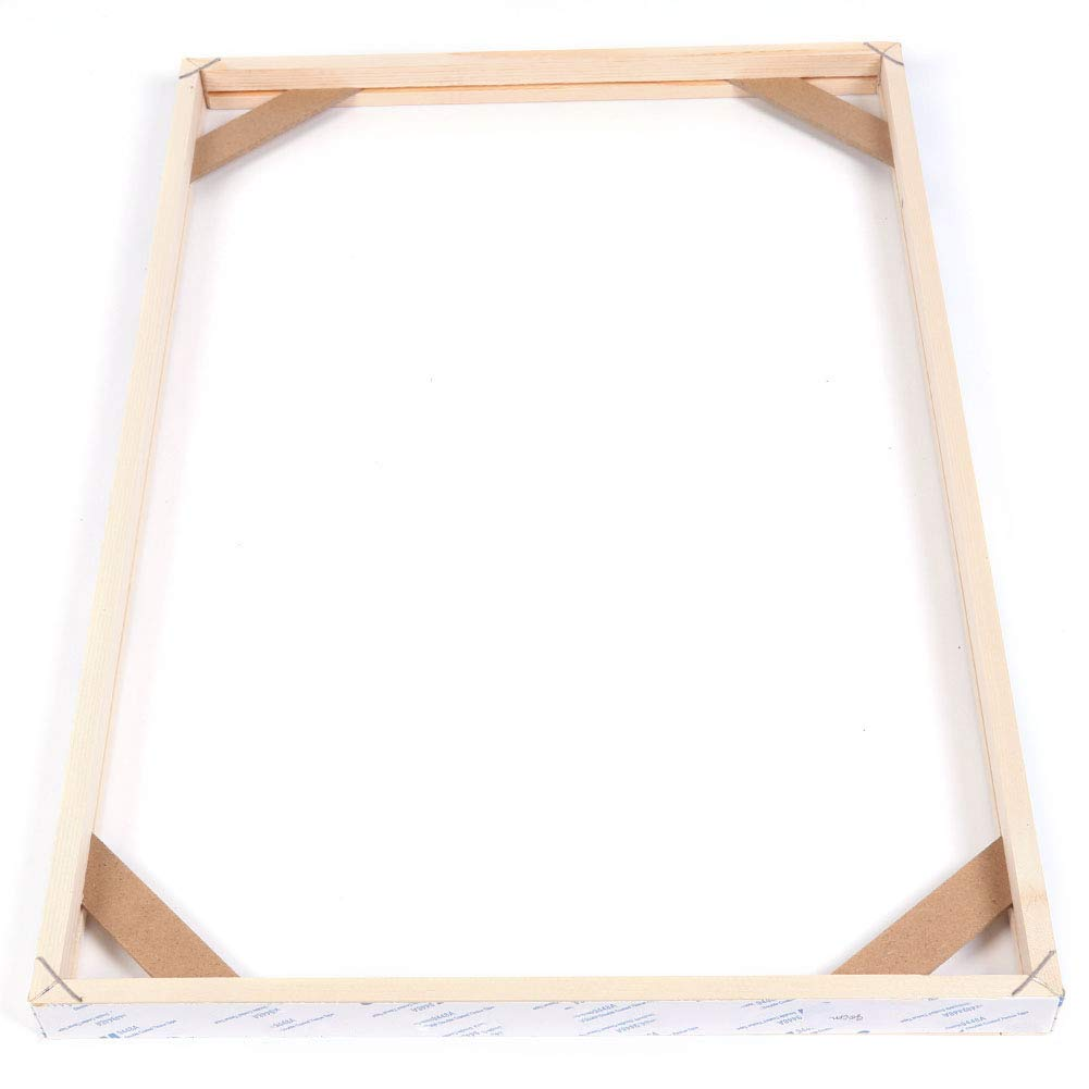 Whitelotous Wooden Art Frames for Gallery Wrap Oil Painting Diamond Painting 40x60cm//16x24 DIY Wood Canvas Frame Kit