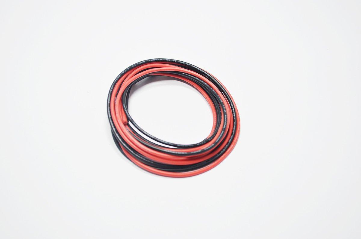 Ultra Flexible haute temp/érature 200 deg C 600V 12 Gauge Fil de Silicone 680 Brins de Fil de Cuivre /Étam/é Fil Toronn/é Mod/èle C/âble de Batterie 1.5m Noir et 1.5m Rouge 4Season 12 AWG Silicone Fil 3m