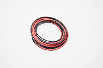 12 AWG Silikon Draht 3m [1,5 m Schwarz und 1,5 m Rot] Ultra Flexible ...