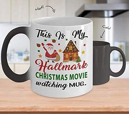 7d3d656258d Hallmark Christmas Movie Watching Color Changing Mug - Dirty Santa Gift,  office, Coworker Tea