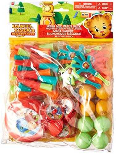 Amscan Mega Mix, Daniel Tiger's Neighborhood, Party Accessory One Size, Multicolor ()