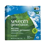 Seventh Generation Natural Laundry Detergent Powder, 70 Loads, Free & Clear 112 oz (3.17 kg)