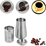 Easycomf Coffee Sieve Screener Powder Mesh 304 Stainless Steel Fine Filter Cup Coffee Powder Scent Cup Grinding Machine Accessories Can (Stainless Steel Surface(Natural Color))