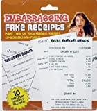 Fake Embarrasing Fake Receipts-10 in a pack