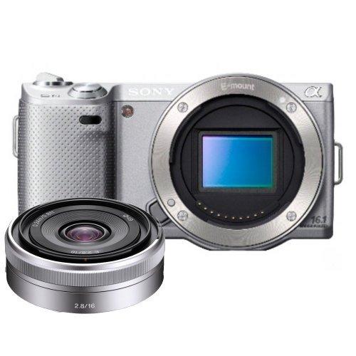 UPC 017896523926, Sony Alpha NEX-5N Digital Camera with Sony E-Mount SEL16F28 16mm f/2.8 Wide-Angle Alpha E-Mount Lens