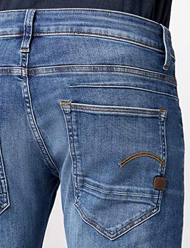 G-STAR RAW Męskie D-STAQ 5-Pocket Slim Jeans: Odzież