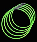 ": 22"" Lumistick Glowsticks Glow Stick Necklaces GREEN (600 Necklaces)"