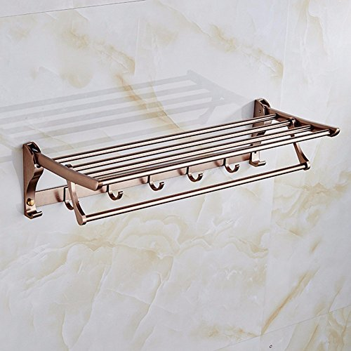KHSKX Aluminum Towel rack space with double event Bronze Towel rack well-wreapped