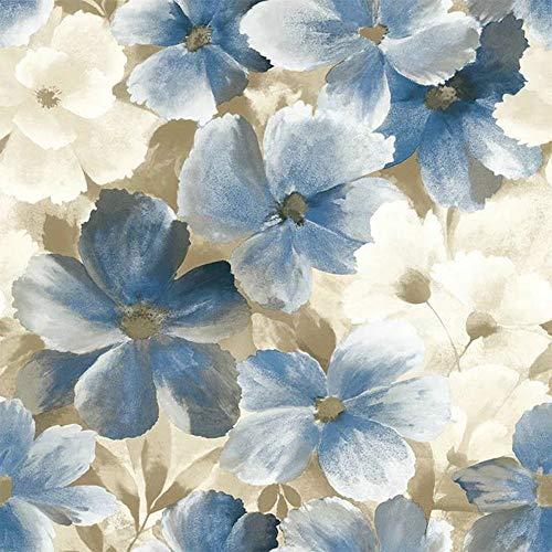 Grace & Gardenia G10101 Soft Blue & White Blooms Wallpaper
