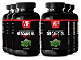 Pure oregano oil undiluted - Wild Mediterranean Oregano Oil 1500mg - Antibacterial - 6 Bottles 360 Capsules