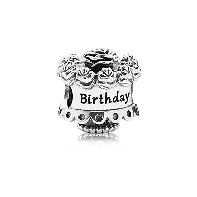 Pandora Charm en Plata de Ley Cumpleaños Feliz: Amazon.es ...