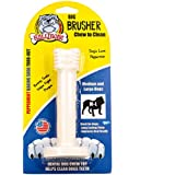 Bullibone Brusher - Dog Teeth Cleaning Bones for Large Dogs | Dog Dental Chews Peppermint Baking Soda | Dog Plaque Remover Improves Oral Health