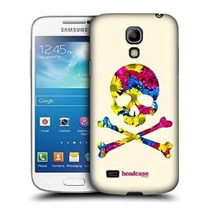 Floral Skulls Crossbones Case For Samsung Galaxy S4 Mini I9190 I9192