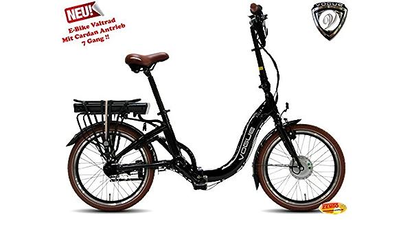 Eléctrico bicicleta plegable para VOGUE Villa 7 SP Cardan accionamiento Negro: Amazon.es: Deportes y aire libre