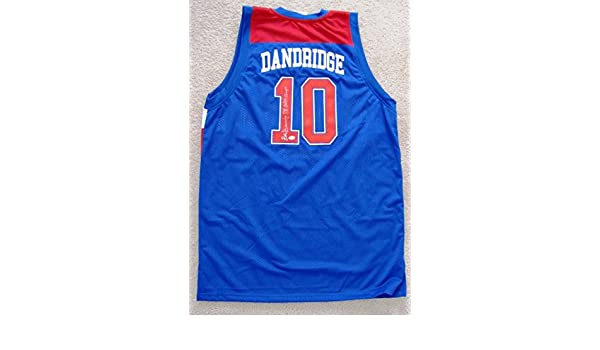 2b35ce551 Bob Dandridge Autographed Blue Jersey - Washington Bullets Wizards at Amazon s  Sports Collectibles Store