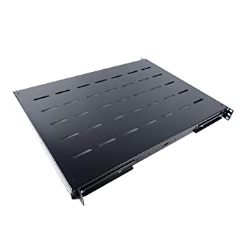 RackMatic - Bandeja Armario Rack Fondo 550 mm 1U Ajustable 490-610 mm