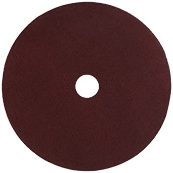 """Glit 11524 TN Polyester Blend Maroon Wood Surfacing Pad, Synthetic Blend Resin, Aluminum Oxide Grit, 24"""" Diameter, 175 to 350 rpm (Case of 10)"""