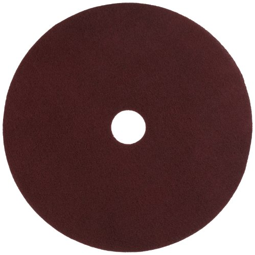 Glit 11524 TN Polyester Blend Maroon Wood Surfacing Pad, Synthetic Blend Resin, Aluminum Oxide Grit, 24