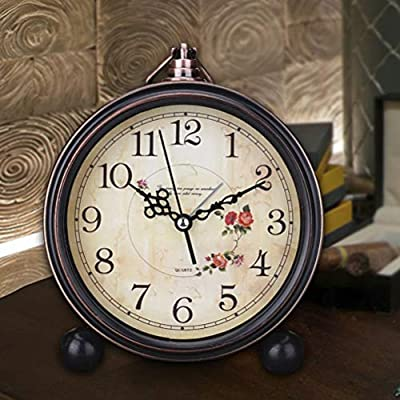 LIOOBO Reloj de Alarma de Estilo Vintage Reloj de Mesa Retro ...