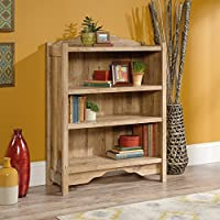 Sauder Viabella 3 Shelf Bookcase in Antigua Chestnut