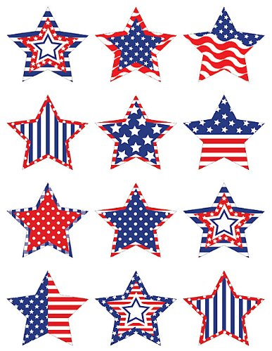 - Teacher Created Resources Patriotic Stars Mini Accents (5336)