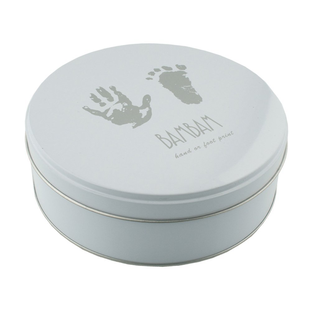 Bam bam Clay Impression Handprint Footprint Kit in Tin - New Baby Gift