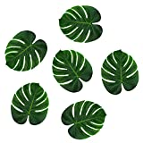 "Tropical Imitation Green Plant Paper Leaves 13"" Hawaiian Luau Party Jungle Beach Theme Decorations for Birthdays, Arts & Crafts, Prom, Events, Weddings (6 Pack)"