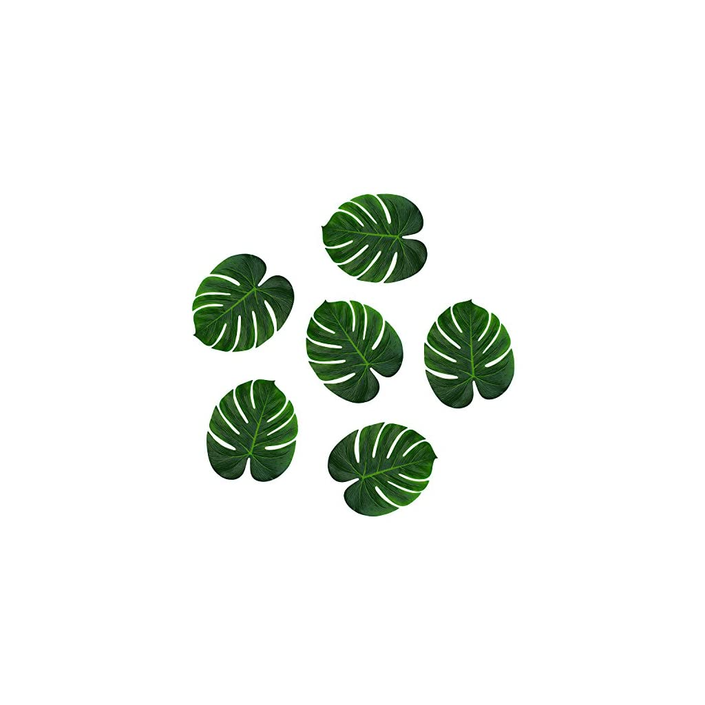Super-Z-Outlet-Tropical-Imitation-Green-Plant-Paper-Leaves-13-Hawaiian-Luau-Party-Jungle-Beach-Theme-Decorations-for-Birthdays-Arts-Crafts-Prom-Events-Weddings-6-Pack