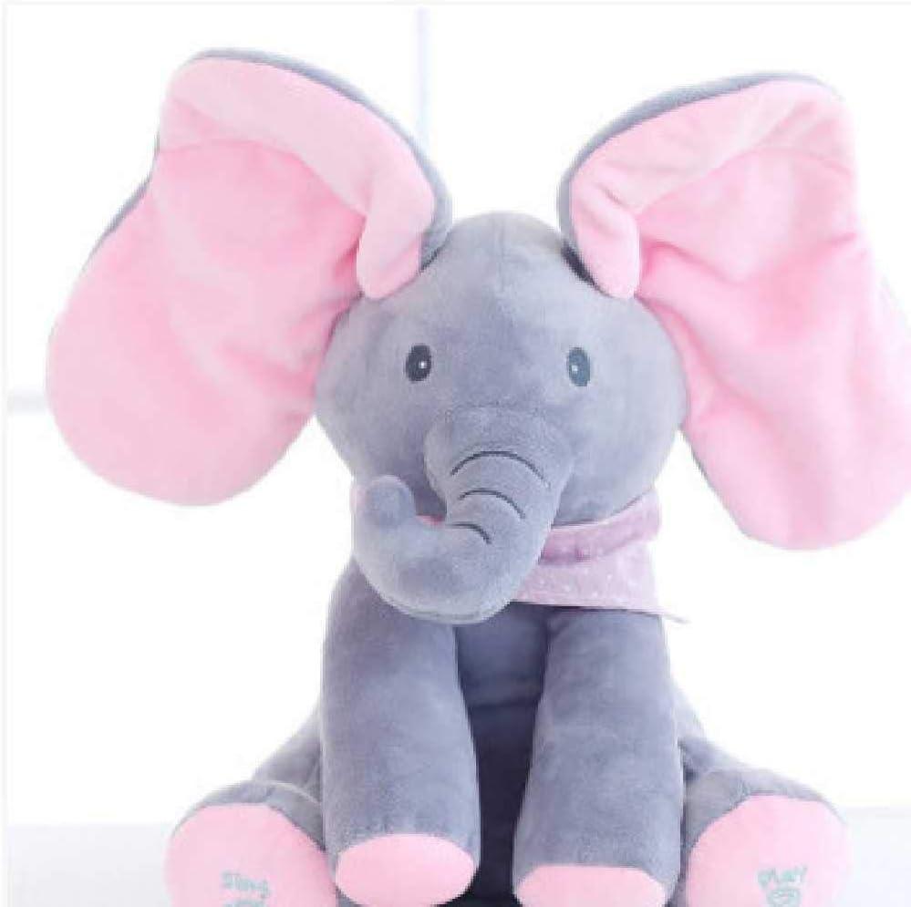 Peque/ño Elefante Felpa Lindo Juguete Regalos Regalos para Ni/ños Y Ni/ñas 30cm //Rosa Canto Elefante Peluches VUBD Suave Felpa Elefante Peluches