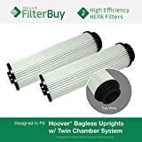2 - Hoover WindTunnel, EmPower, Savvy Washable Long-Life HEPA Filters, Part #s 40140201, 43611042 & 42611049. Designed by FilterBuy to fit ALL Hoover Upright Vacuum Cleaners