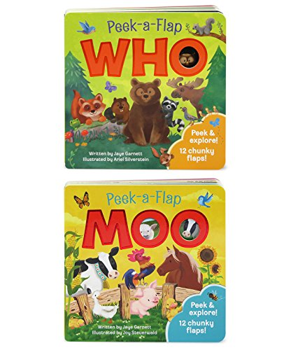 (2 Pack: Moo and Who Peek-a-Flap books )