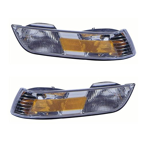 1995-1996-1997 Mercury Grand Marquis Corner Park Lamp Turn Signal Marker Light (With Cornering Lamp Type) Pair Set Left Driver And Right Passenger Side (95 96 97) (Light Part Type Cornering)