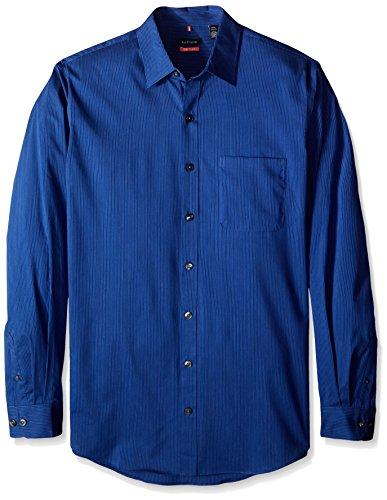 Van Heusen Men's Big and Tall Traveler Non Iron Stretch Long Sleeve Shirt, Blue Mazarine Blue, 2X-Large Tall