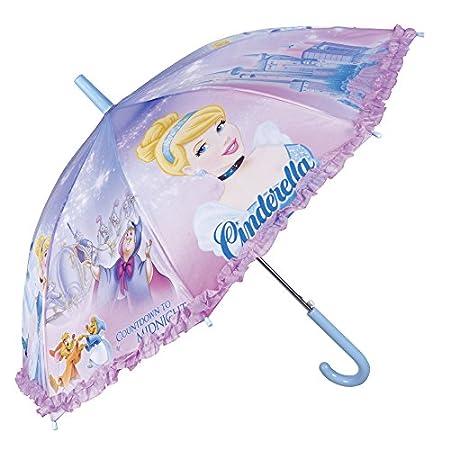 Ombrello di Cenerentola per Bambine - Resistente Antivento con Apertura Automatica - per Bambine 5/7 Anni