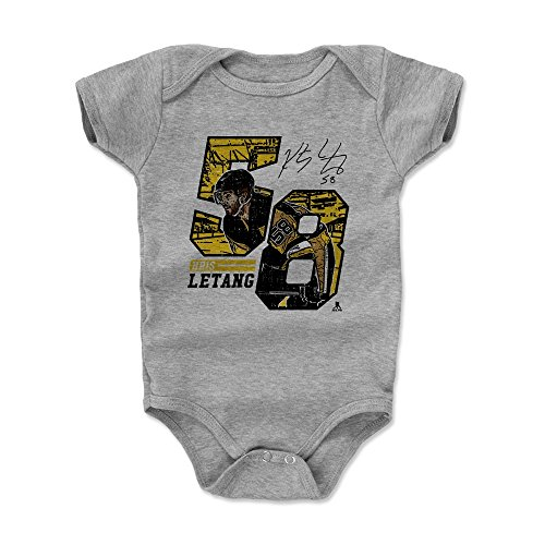 500 LEVEL Kris Letang Pittsburgh Penguins Baby Clothes, Onesie, Creeper, Bodysuit (6-12 Months, Heather Gray) - Kris Letang Offset Y