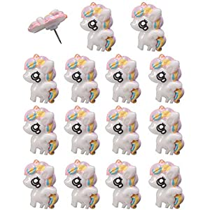 FoyaHome 15 Pcs Cartoon Cute Unicorn Push Pins Fixed Photos Memo Papers Notes Animal Decorative Office Supplies Map…