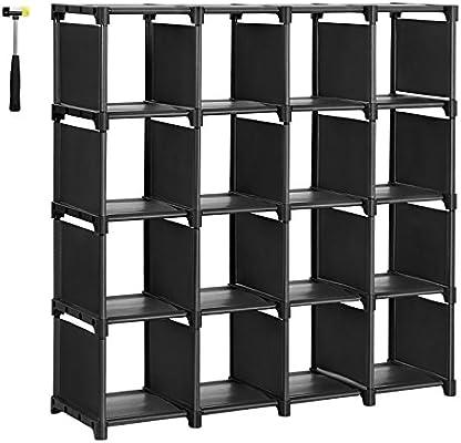 Songmics 16 Cube Shoe Rack Diy Modular Storage Shelves Bookshelf