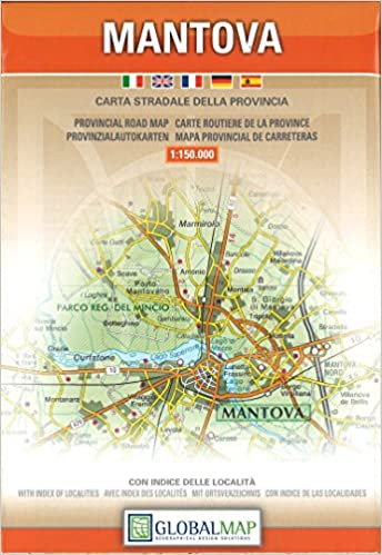 Mantova, Lombardy - Provincial Road Map (English, Spanish, French ...
