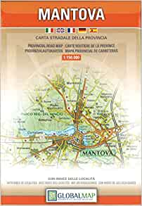 Mantova, Lombardy - Provincial Road Map (English, Spanish